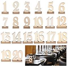 billige Bryllupsdekorasjoner-Bordnummer Kort Tre Bryllupsdekorasjoner jubileum / Bursdag / Engasjement Hage Tema / Klassisk Tema Vår / Sommer / Høst