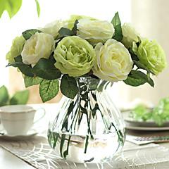 ieftine -12 ramură Trandafiri Față de masă flori Flori artificiale