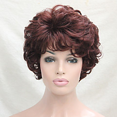 cheap Wigs & Hair Pieces-new wavy curly golden blonde mix short synthetic hair full women s wig for everyday