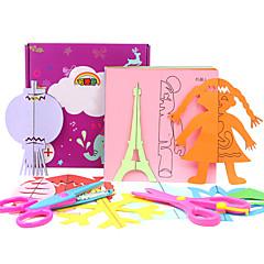 KEAIHAO Lindert Stress Sets zum Selbermachen Bildungsspielsachen Aufkleber Papiermodel Spielzeuge Quadratisch Papier 200 Stücke Silvester