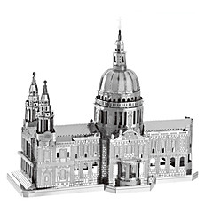 cheap -3D Puzzles Jigsaw Puzzle Metal Puzzles Model Building Kit Famous buildings Church Architecture DIY Creative Classic & Timeless Chic &