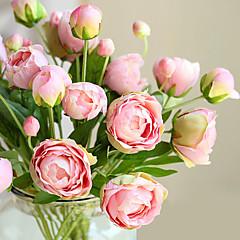 ieftine -1 ramura (4heads) multicolor stil european flori mici bujor bujor