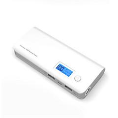 billige Eksterne batterier-strømbank eksternt batteri 5V 1.0A 2.1A #A Batterilader Lommelykt Flere utganger Støtsikker LED