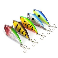 "5 pcs Fishing Lures Hard Bait Vibration/VIB Assorted Colors g/Ounce,55 mm/2-1/4"" inch,Hard PlasticSea Fishing Bait Casting Spinning"