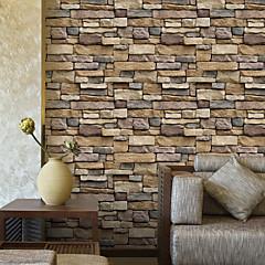hesapli Duvar Sanatı-Geometrik 3D Ev için duvar kağıdı Çağdaş Duvar Kaplamaları , PVC/Vinil Malzeme Yapışkanlı duvar kağıdı , Oda Wallcovering