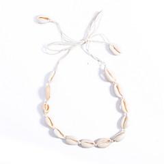 お買い得  ファッションネックレス-チョーカー  -  シェル オリジナル, 欧風, ファッション ホワイト ネックレス 用途 日常, カジュアル