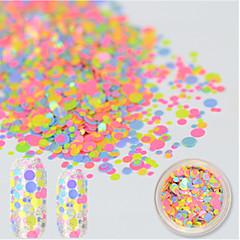 baratos -1 bottle Adesivos para Manicure Artística Purpurina & Pó maquiagem Cosméticos Designs para Manicure