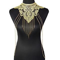Dame Kropssmykker Krops Kæde / mavekæde Mode Vintage Boheme Stil Gotisk Blonde Legering Blomstformet Geometrisk form Guld Smykker ForFest