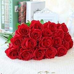 billige Kunstige blomster-Kunstige blomster 10 Gren Europeisk Stil Roser Bordblomst