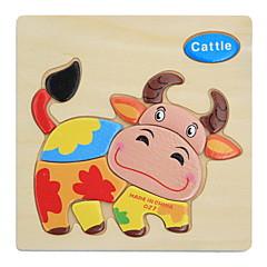 Puzzle Dřevěné puzzle Vzdělávací hračka Hračky Zvířata Udělej si sám Děti Dětské 1 Pieces