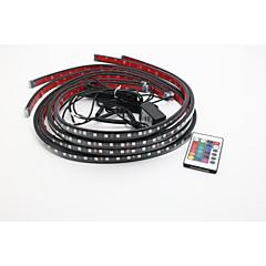 hesapli -2x90cm2x120cm rgb renk değişimi led rgb titreşimler araba gövdesi atmosfer ışıkları altında
