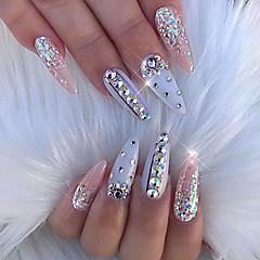 mixed size glitter ab acrylic rhinestones nail art decorations 617952b9b804