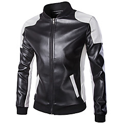 Jacket PU Leather All Season Windproof Motorcycle Kidney Belts