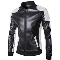 baratos Jaquetas de Motociclismo-Roupa da motocicleta Jaqueta PU Leather Todas as Estações A Prova de Ventos