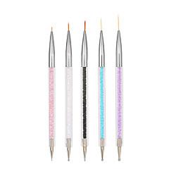billige Negleklistremerker-5pcs Neglekunst klistremerke Guide Franske Spisser Sminke Kosmetikk Neglekunst Design
