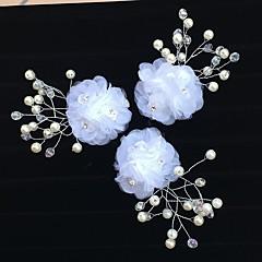チュールアクリル花のヘアクリップの髪の爪ヘッドピースのエレガントなスタイル