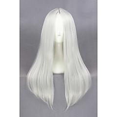 billige Kostymeparykk-Syntetiske parykker / Kostymeparykker Rett Syntetisk hår Hvit Parykk Dame Medium Lengde Lokkløs Sølv