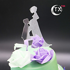 cheap Cake Toppers-Cake Topper Classic Theme Classic Couple Acrylic Quinceañera & Sweet Sixteen with 1 OPP