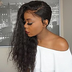 cheap Wigs & Hair Pieces-Unprocessed Human Hair Glueless Lace Front Wig Brazilian Hair Natural Black Wig 130% Density with Baby Hair Natural Hairline African American Wig Natural Black Women's Long Human Hair Lace Wig
