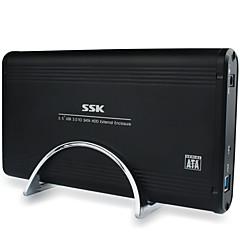 Sskhe g130 3,5 polegadas usb3.0 caixa de disco rígido móvel interface sata preto
