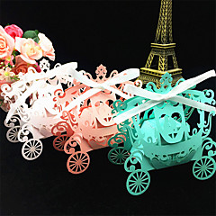 50pcs Bride And Groom Pumpkin Carriage wedding Box Wedding Decoration
