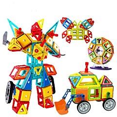 אבני בניין צעצוע חינוכי בלוקים מגנטיים מגדיר בניין מגדיר צעצועים ריבוע מעגלי משולש 3D מתנה ילדים בנות בנים 128 חתיכות