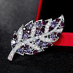 Dame Brocher Mode Euro-Amerikansk Rhinsten Legering Bladformet Smykker For Bryllup Fest Speciel Lejlighed Daglig