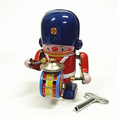 olcso Újdonságok, geg játékok-Robot / Felhúzós játék Gép / Robot / Dob felszerelés Fémes / Vas Vintage 1 pcs Darabok Gyermek / Felnőttek Ajándék