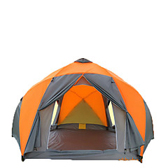 billige Telt og ly->8 personer Telt Dobbelt camping Tent Ett Rom Brette Telt Fukt-sikker Vanntett Regn-sikker Pusteevne til Vandring Camping Reise Utendørs