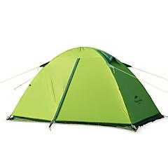 billige Telt og ly-Naturehike 2 personer Telt Enkelt camping Tent Utendørs Brette Telt til Camping / Reise <1000mm
