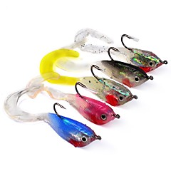 "5 pcs Soft Bait Jig head Fishing Lures Fishing Accessories Soft Bait Jigs Jig Head Shad Assorted Colors g/Ounce,51 mm/2-1/8"" inch,Lead"