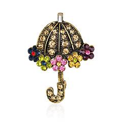 Dámské Brože Módní Euramerican Štras Slitina Geometric Shape Šperky Pro Svatební Párty Zvláštní příležitosti Denní
