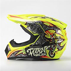 tanie Kaski i maski-mejia off-road wyścigi motocyklowe kask połysk żółty pełna twarz tłumienie trwały kask motorsport