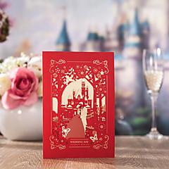 cheap Wedding Invitations-Side Fold Wedding Invitations 50-Bachelorette Party Cards Invitations Sets Save The Date Cards Envelope Envelope Sticker Program Fan