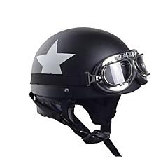 preiswerte Motorrad & ATV Teile-Halber Helm Erwachsene Unisex Motorrad Helm flexibel