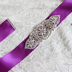 voordelige Sjerpen voor feesten-Satijn/tule Taffeta Satiini Bruiloft Feest / Uitgaan Sjerp With Strass Appliqués Dames Sjerpen
