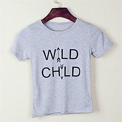 billige Pigetoppe-Baby Unisex Sport / Skole Trykt mønster Kortærmet Bomuld T-shirt