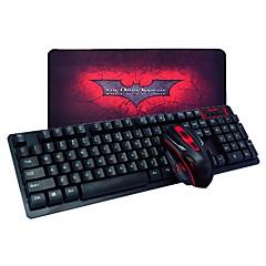 billiga mus tangentbord combo-Trådlös Mus tangentbord combo Med musen vadderar AA Battery gaming tangentbord