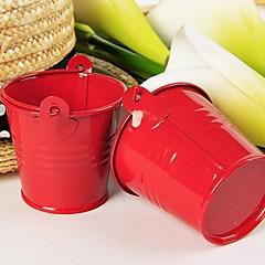 preiswerte Gastgeschenk Boxen & Verpackungen-12 teile / satz-rot zinn candy eimer party dekorationen 7x6x6 cm / stück