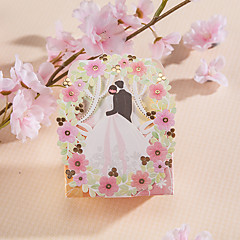 Cuboid Card Paper Favor Holder With Favor Boxes-12 Wedding Favors