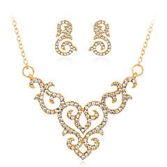 tanie Zestawy biżuterii-Damskie Wzór geometryczny Biżuteria Ustaw - Kryształ górski Modny, euroamerykańskiej Zawierać Naszyjnik Złoty Na Ślub / Impreza / Specjalne okazje