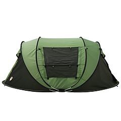3-4 사람 텐트 더블 베이스 캠핑 텐트 원 룸 텐트 팝업 용 캠핑 여행 2000-3000 mm 200*280*120 CM