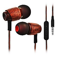 billiga Headsets och hörlurar-Cwxuan I öra Kabel Hörlurar Trä Mobiltelefon Hörlur mikrofon headset