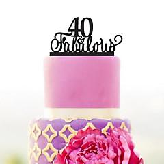 billige Kakedekorasjoner-Kakepynt Hage Tema / Klassisk Tema Akryl Bryllup / jubileum / Bursdag med 1 pcs OPP