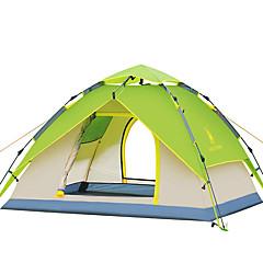 3-4 personer Telt Dobbelt camping Tent Ett Rom Automatisk Telt Vanntett Vindtett Ultraviolet Motstandsdyktig Sammenleggbar til Vandring