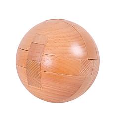 cheap -Wooden Puzzles IQ Brain Teaser Luban Lock Circular IQ Test Wood Unisex Gift