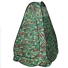 "AOXIANGZHE 1 אדם אוהל כפול קמפינג אוהל חדר אחד אוהל מתקפל עמיד למים נייד ל צעידה קמפינג 2000-3000 מ""מ סיבי זכוכית אוקספורד-120*120*190 CM"