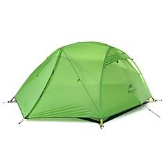 billige Telt og ly-Naturehike 2 personer Turtelt Dobbelt Lagdelt Stang Kuppel Telt Ett Rom  utendørs Regn-sikker  til Camping