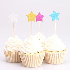 billige Kakedekorasjoner-Kakepynt Klassisk Tema Kort Papir Bryllup jubileum Bursdag Utdrikningslag 15- og 16-års bursdag Baby Fest med 24 OPP