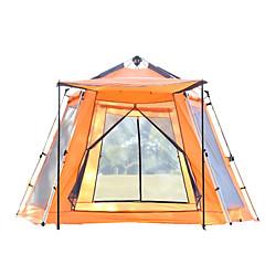 5-8 אנשים אוהל מחסה וברזנט צילייה למחנאות יחיד קמפינג אוהל חדר אחד אוהל אוטומטי שמור על חום הגוף בידוד חום עמיד ללחות מאוורר היטב עמיד